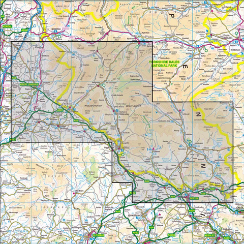 OL2 Yorkshire Dales - Southern & Western areas Historical Mapping - Anquet Maps