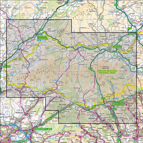 OL12 Brecon Beacons National Park West & Central Historical Mapping