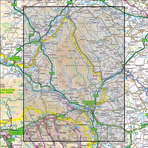 OL13 Brecon Beacons National Park East Historical Mapping - Anquet Maps
