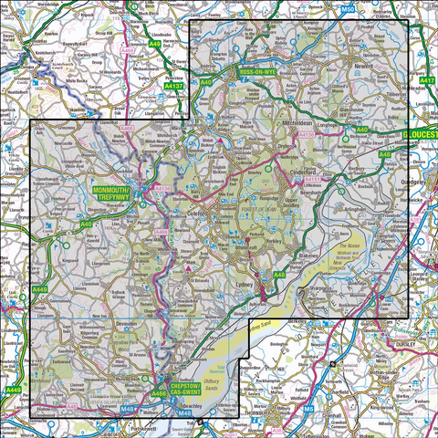 OL14 Wye Valley & Forest of Dean Historical Mapping - Anquet Maps
