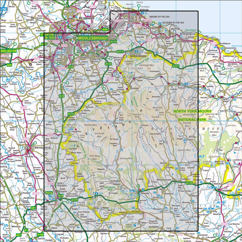 OL26 North York Moors - Western area - Anquet Maps