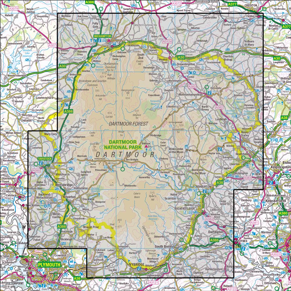 Map Of Dartmoor OL28 Dartmoor | OS 1:25,000 Explorer – Anquet Maps
