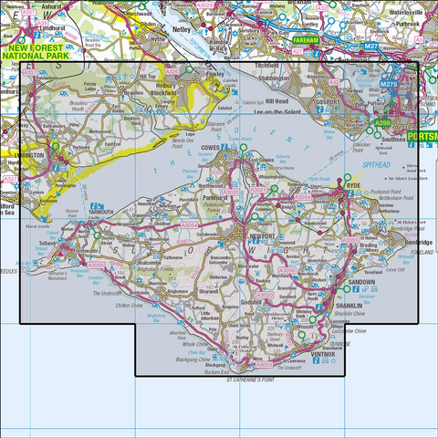 OL29 Isle of Wight - Anquet Maps