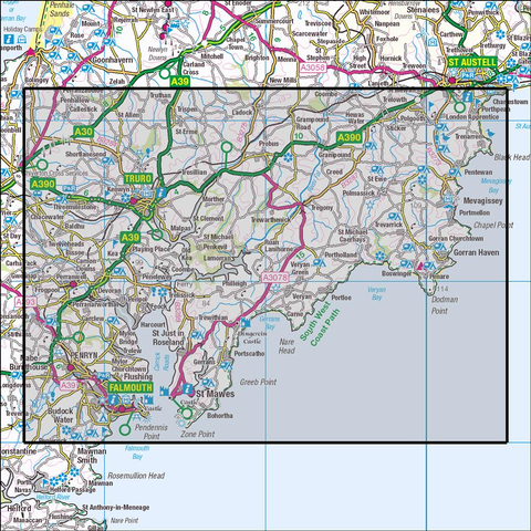 105 Falmouth & Mevagissey - Anquet Maps