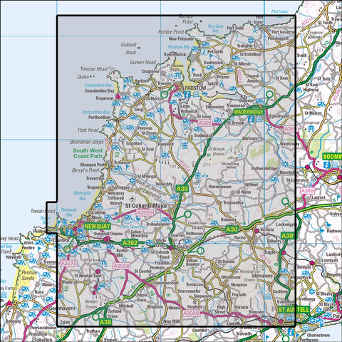 106 Newquay & Padstow - Anquet Maps