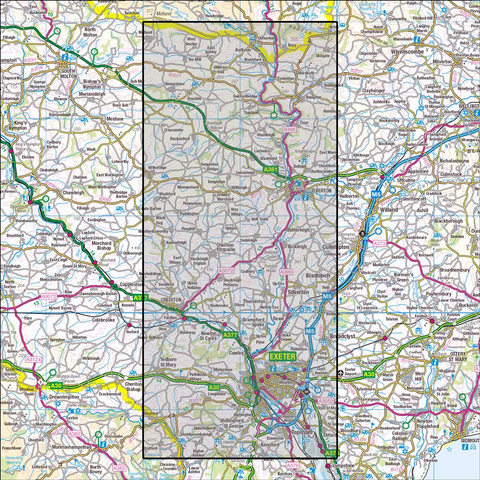 114 Exeter & the Exe Valley - Anquet Maps