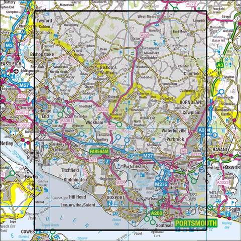 119 Meon Valley, Portsmouth, Gosport & Fareham - Anquet Maps