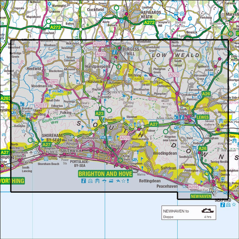 122 Brighton Hove Historical Mapping Historical Ordnance Survey