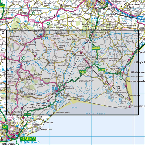 125 Romney Marsh, Rye & Winchelsea Historical Mapping - Anquet Maps