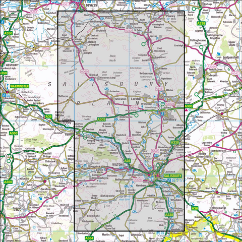130 Salisbury & Stonehenge Historical Mapping - Anquet Maps