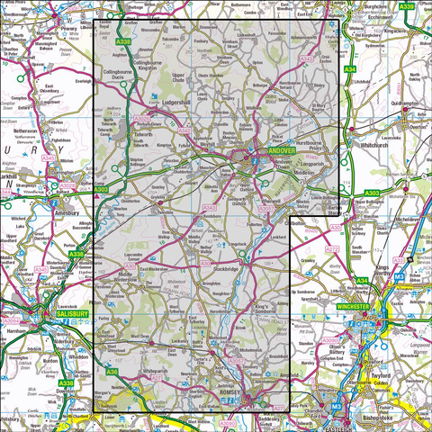 131 Romsey, Andover & Test Valley - OSVMLC - Anquet Maps