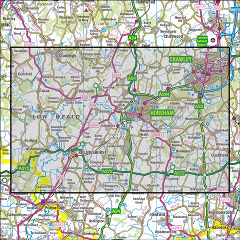 134 Crawley & Horsham - OSVMLC - Anquet Maps