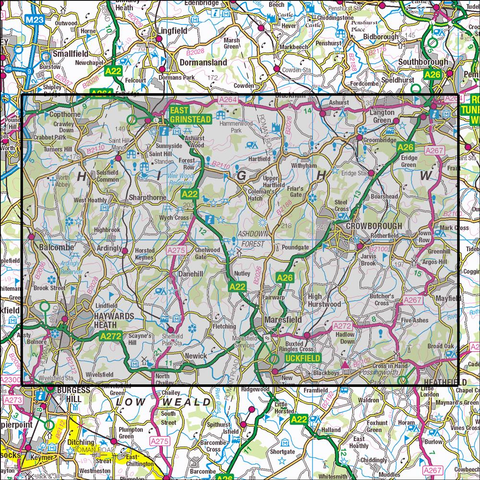 135 Ashdown Forest - Anquet Maps