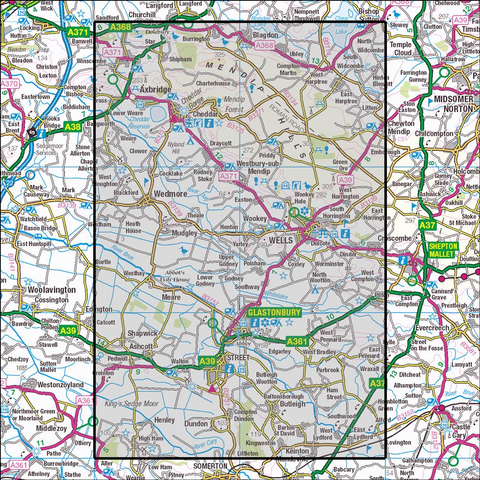 141 Cheddar Gorge & Mendip Hills West Historical Mapping - Anquet Maps