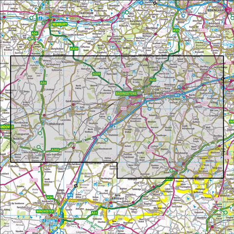 144 Basingstoke, Alton & Whitchurch Historical Mapping - Anquet Maps