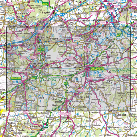 145 Guildford & Farnham Historical Mapping - Anquet Maps