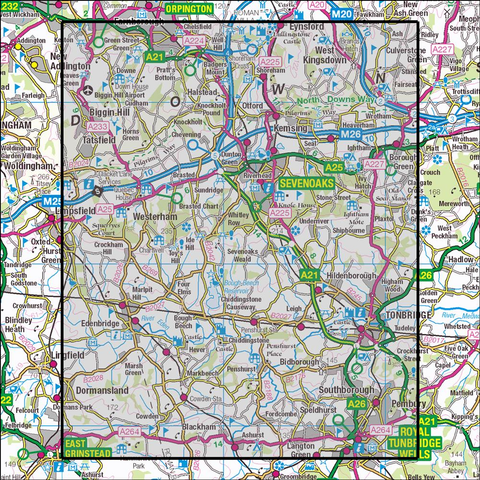 147 Sevenoaks & Tonbridge - Anquet Maps