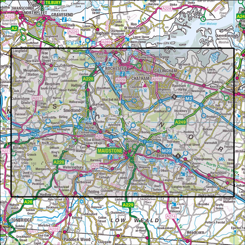 148 Maidstone & the Medway Towns Historical Mapping - Anquet Maps