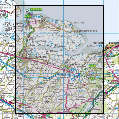149 Sittingbourne & Faversham - Anquet Maps