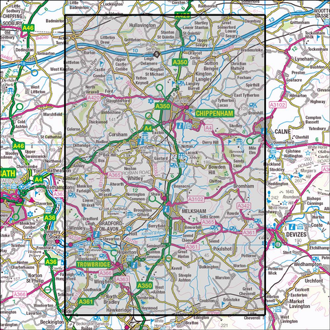 156 Chippenham & Bradford-on-Avon Historical Mapping - Anquet Maps
