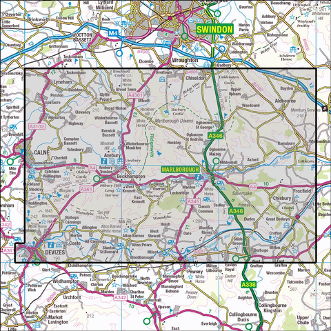 157 Marlborough & Savernake Forest - Anquet Maps