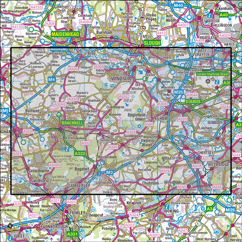 160 Windsor, Weybridge & Bracknell Historical Mapping - Anquet Maps