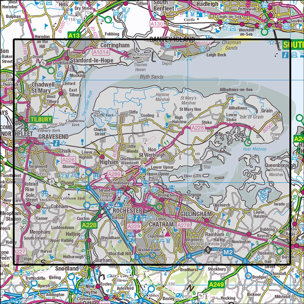 OS Explorer Map 163 Gravesend and Rochester