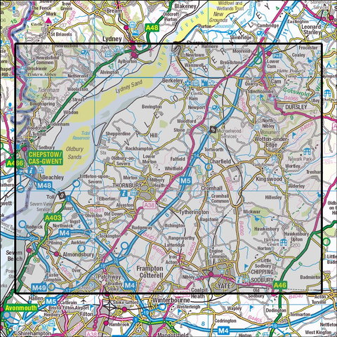 167 Thornbury, Dursley & Yate Historical Mapping - Anquet Maps