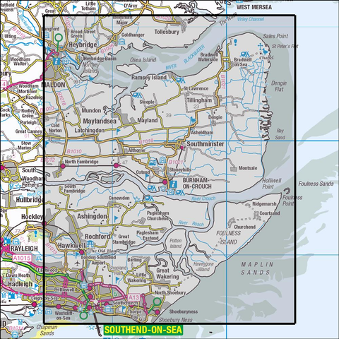 176 Blackwater Estuary - Anquet Maps
