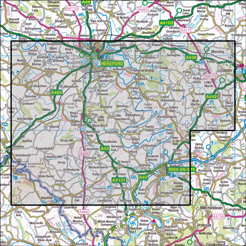 189 Hereford & Ross-on-Wye Historical Mapping - Anquet Maps