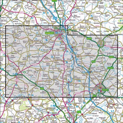 191 Banbury, Bicester & Chipping Norton Historical Mapping - Anquet Maps