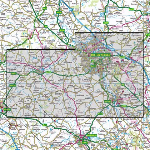 192 Buckingham & Milton Keynes Historical Mapping - Anquet Maps
