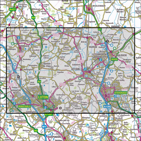 193 Luton & Stevenage Historical Mapping - Anquet Maps