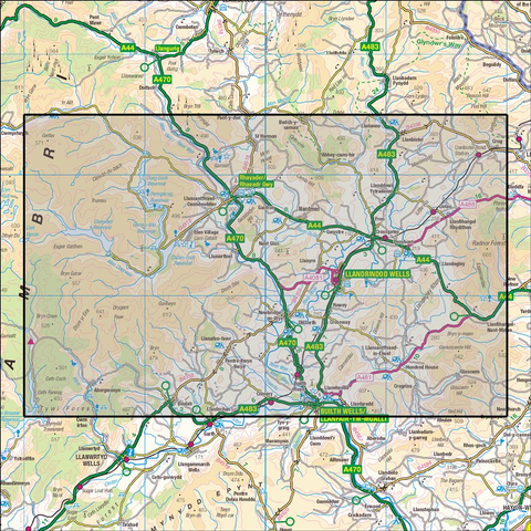 200 Llandrindod Wells & Elan Valley  Historical Mapping - Anquet Maps
