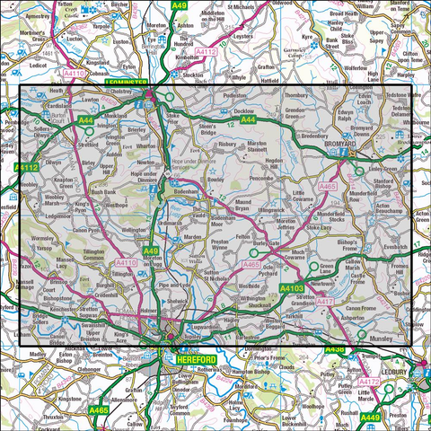202 Leominter & Bromyard - Anquet Maps