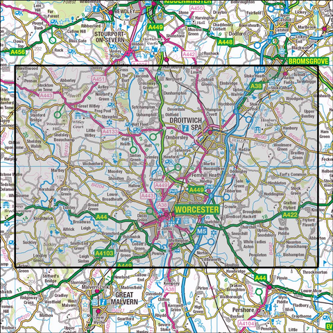 204 Worcester & Droitwich Spa Historical Mapping - Anquet Maps