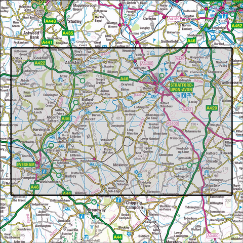 205 Stratford-upon-Avon & Evesham Historical Mapping - Anquet Maps