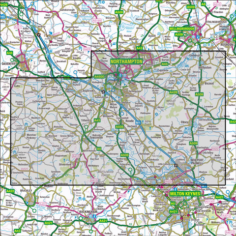 207 Newport Pagnell & Northampton South - Anquet Maps
