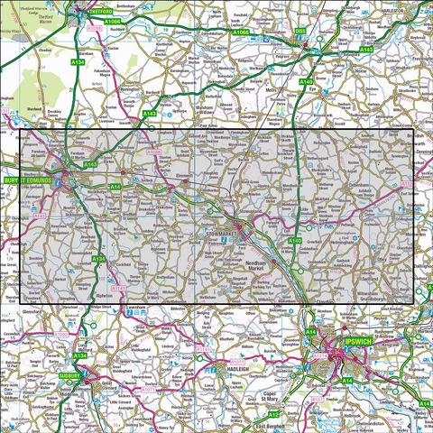 211 Bury St Edmunds & Stowmarket Historical Mapping - Anquet Maps