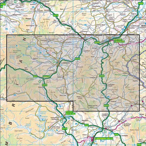 214 Llanidloes & Newtown - Anquet Maps