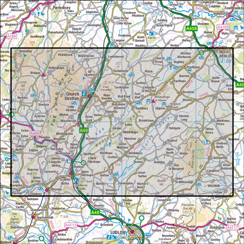 217 The Long Mynd & Wenlock Edge Historical Mapping - Anquet Maps