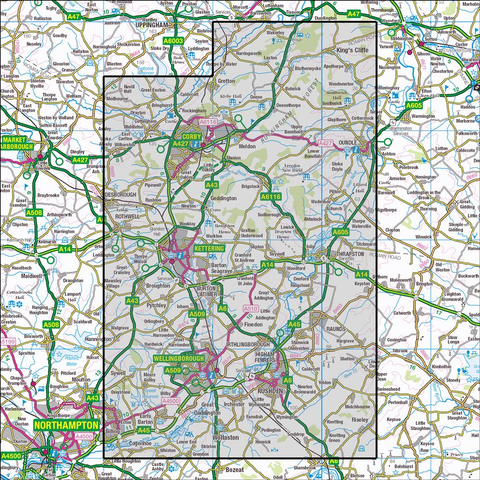 224 Corby, Kettering & Wellingborough - OSVMLC - Anquet Maps