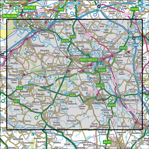 267 Northwich & Delamere Forest Historical Mapping - Anquet Maps