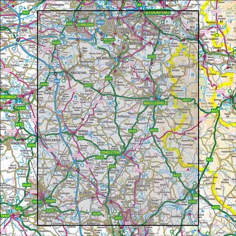 268 Wilmslow, Macclesfield & Congleton - Anquet Maps