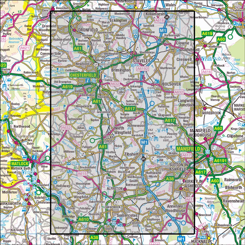 269 Chesterfield & Alfreton Historical Mapping - Anquet Maps