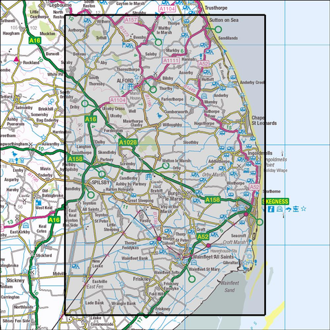 274 Skegness, Alford & Spilsby Historical Mapping - Anquet Maps