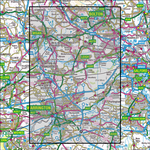 276 Bolton, Wigan & Warrington - Anquet Maps