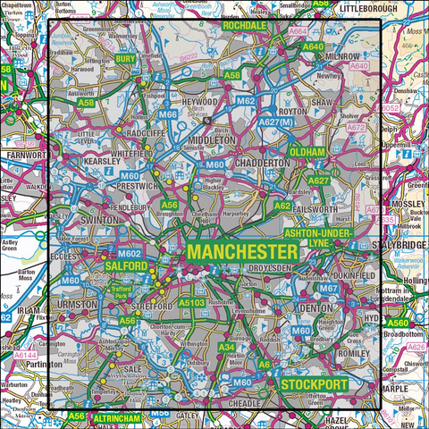 277 Manchester & Salford Historical Mapping - Anquet Maps