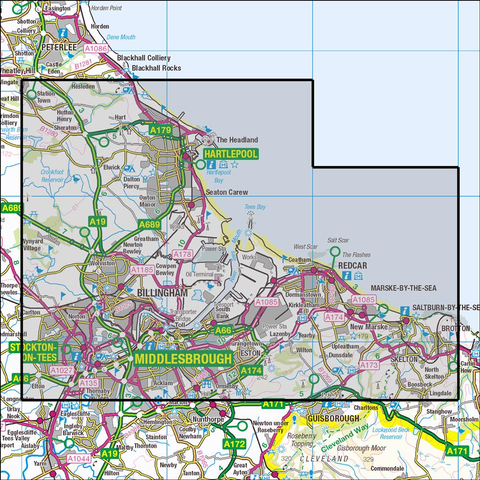306 Middlesbrough & Hartlepool - Anquet Maps