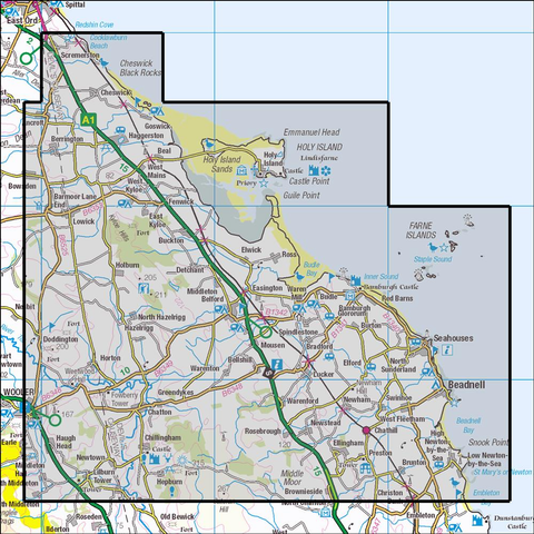 340 Holy Island & Bamburgh - Anquet Maps